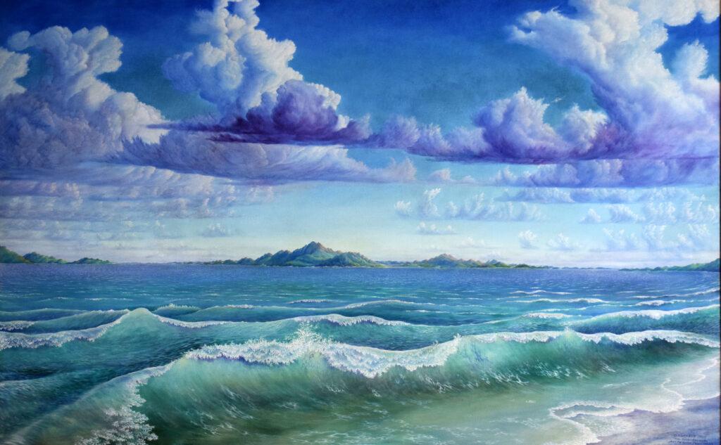 Rachel Clearfield painting of ocean